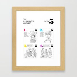 The Illuminated Mixtapes, Edition 5 Framed Art Print