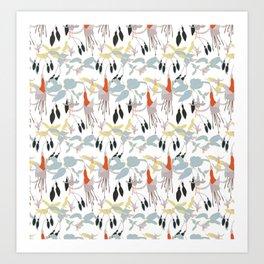 Fuchsia Dance Art Print