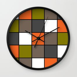 #Colorful #squares Wall Clock