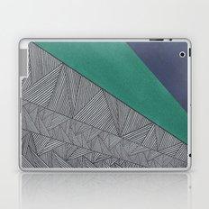 Black, Turquois, Dark Blue Laptop & iPad Skin