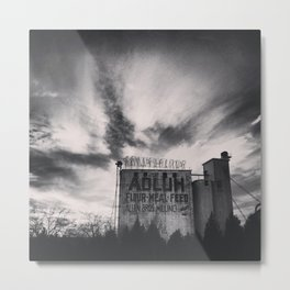Adluh in Black & White Metal Print