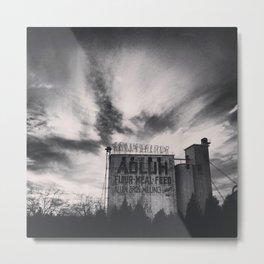 Adluh in Black & White Metal Print