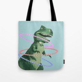 T-Rex the Hula Dancer in Green Tote Bag