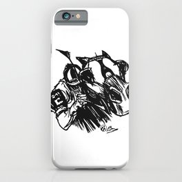 """""""On The Backstretch"""" Horse Racing, Thoroughbred, Saratoga, EQUESTRIAN, iPhone Case"""