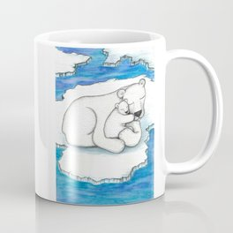 Polar Bear And Cub Coffee Mug