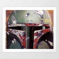 boba fett Art Prints featuring Boba Fett by Mel Hampson