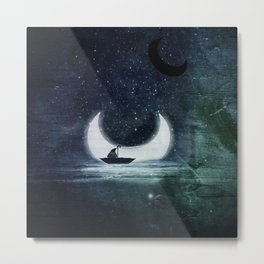 When the moon fell.... Metal Print
