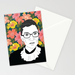 Ruth Bader Ginsburg Floral Stationery Cards