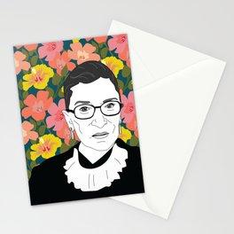 Ruth Bader Ginsburg Floral Stationery Cards