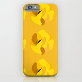 Yellow gorse flower iPhone Case