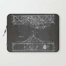Wright Brother'S Airplane Patent - Aviation History Art - Black Chalkboard Laptop Sleeve