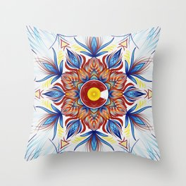 Colorado Mandala  Throw Pillow
