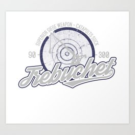 Vintage Trebuchet Design Art Print