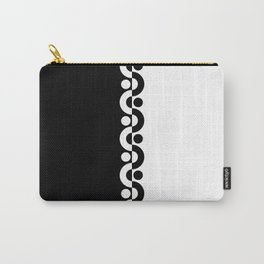 Black And White / Two Tone Modern Carry-All Pouch
