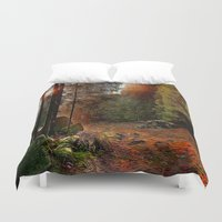 cabin Duvet Covers featuring Hidden Cabin by Robin Curtiss