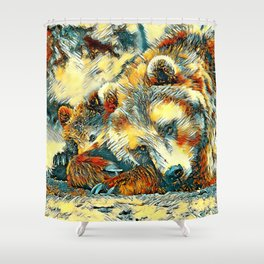 AnimalArt_Bear_20170602_by_JAMColorsSpecial Shower Curtain