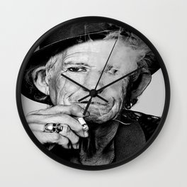 Reproduction KeithRichards Poster, Smoking, The Rolling Stones, Home Wall Art Wall Clock