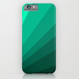 Sea green folding hand fan, fresh and simple summer tropical mood design iPhone Case