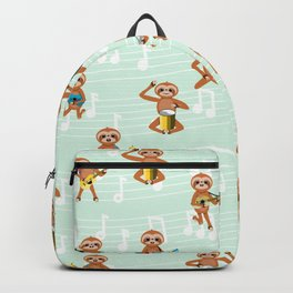 Sloth music pattern Backpack