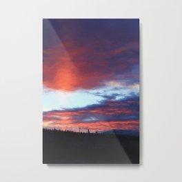 Sunrise on Swan Lake Flat Metal Print