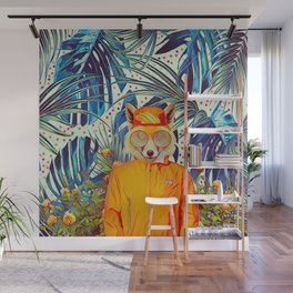 Floral foxy Wall Mural