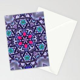 Silver Merkabah Mandala Stationery Cards