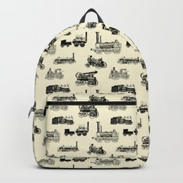 Antique Steam Engines // Parchment Backpack