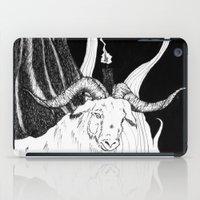 baphomet iPad Cases featuring Sabbat - Goat Detail  by Peczulis