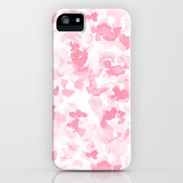 Abstract Flora Millennial Pink iPhone Case