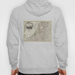 Vintage Map of Holland and Belgium (1775) Hoody