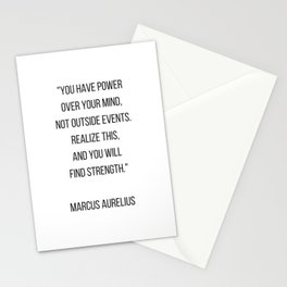 Stoic Philosophy Quote - you have power over your mind Stationery Cards