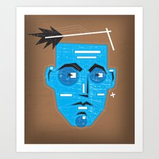 Primitive Face Art Print
