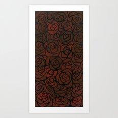 Cluster of Roses Art Print