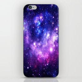 Purple Blue Galaxy Nebula iPhone Skin