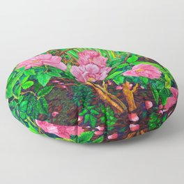 View of Rosa Rugosas (Moje Hammarberg) Floor Pillow
