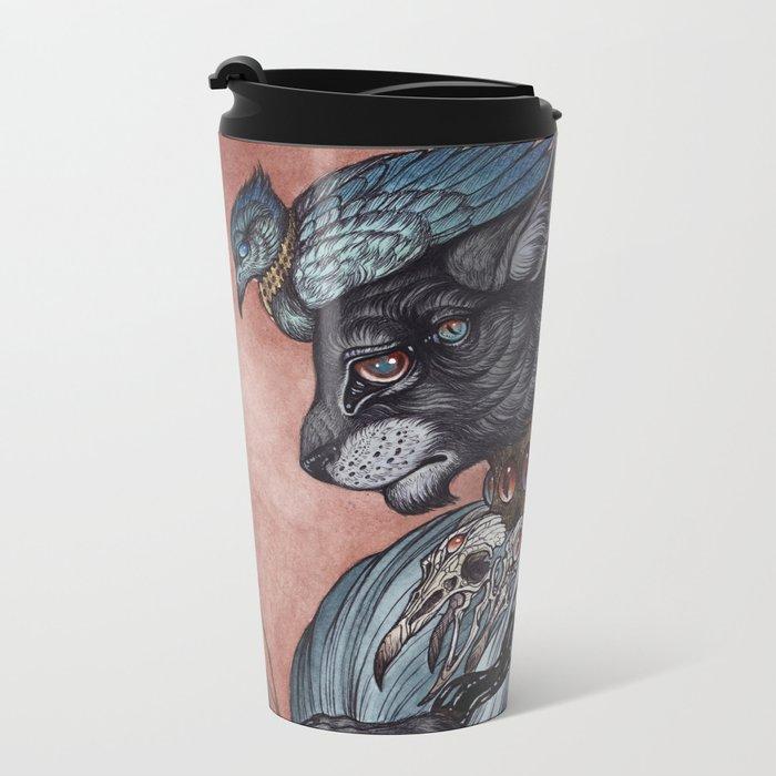 Jack of Spades art print Metal Travel Mug