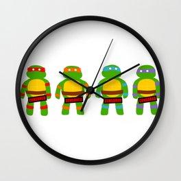 Naughty Ninja Turtles Wall Clock