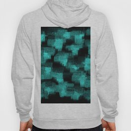 high contrast blue black painted reflections Hoody