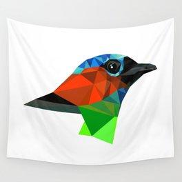 Bird art Saira Nature Animals Geometric Wall Tapestry
