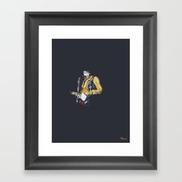 Jimi at Monterey 2 Framed Art Print