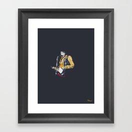 Jimi at Monterey 2 Framed Art Print