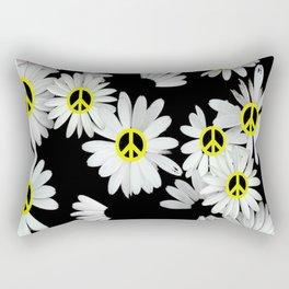 Simple Hippie Daisies Rectangular Pillow