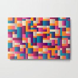 Retro Tile Pattern Metal Print