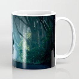 Morning visit in cold Dark Hedges Coffee Mug