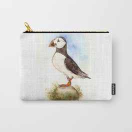 Puffin on a Rock Carry-All Pouch