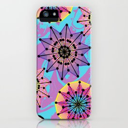 Vibrant Abstract Floral Pattern iPhone Case