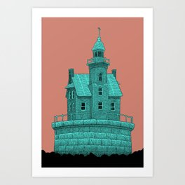empty lighthouse Art Print