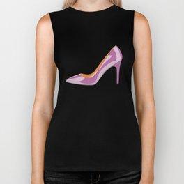 Classic High heeled shoe in bodacious pink Biker Tank
