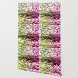 Quilted Pattern Pinks and Mint Green Pastel Design Wallpaper