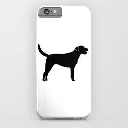 Black Labrador Retriever Silhouette #society6 #decor #buyart #artprint iPhone Case